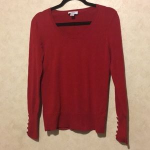 Loft Button sleeve sweater